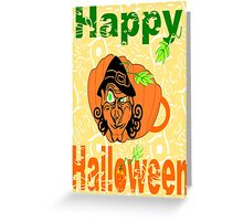 Halloween Card :Pumpkin Shape Mug (6690  Views) Greeting Card
