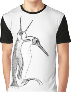 Scary Penguin Graphic T-Shirt