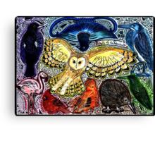 Birds of the Rainbow Canvas Print