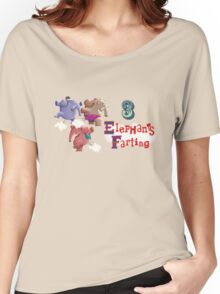 3 Elephants Farting Women's Relaxed Fit T-Shirt