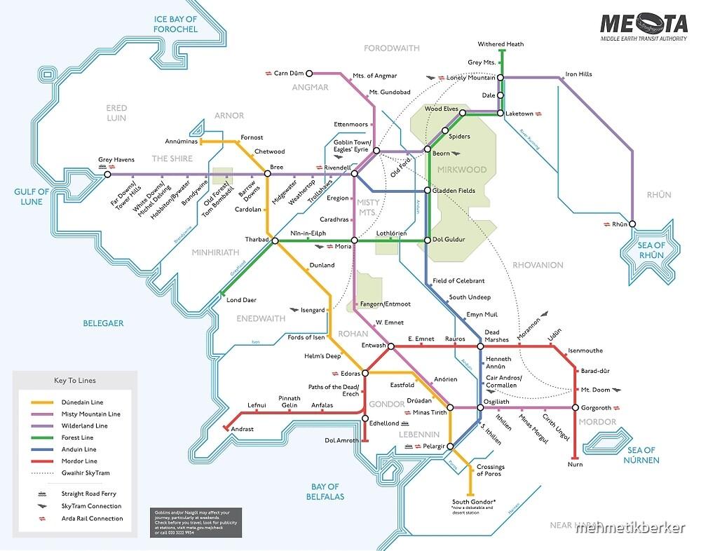 Middle Earth Transit Map by mehmetikberker