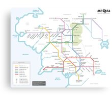 Middle Earth Transit Map Canvas Print