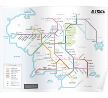 Middle Earth Transit Map Poster