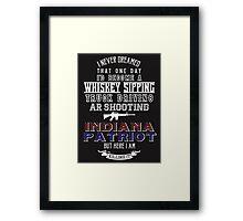 Indiana Patriot Framed Print