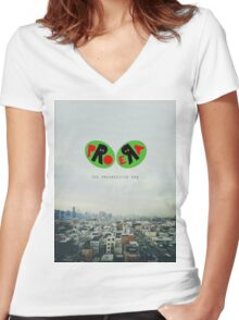 pro era Women's Fitted V-Neck T-Shirt