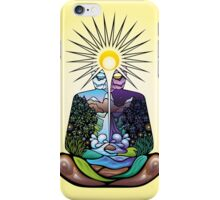 Psychedelic meditating Nature-man iPhone Case/Skin