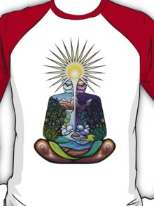 Psychedelic meditating Nature-man T-Shirt