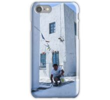 Coloring Mykonos white iPhone Case/Skin