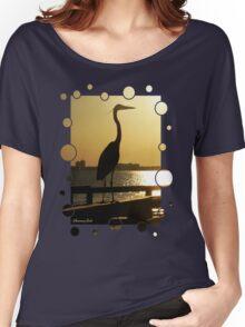 The Heron ~ Sundown Silhouette Women's Relaxed Fit T-Shirt