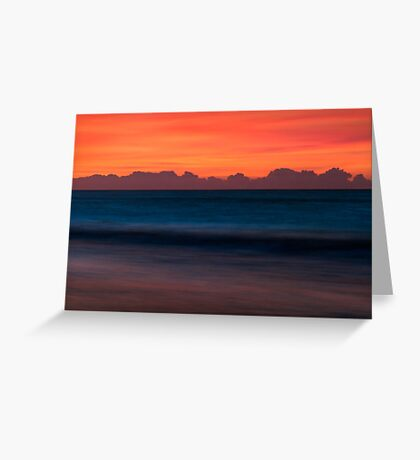 Red Sky Seascape - Emerald Isle, NC Greeting Card