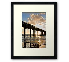 Scripps pier at La Jolla Shores beach, California Framed Print