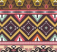 Ethnic colorful pattern with arrows by Olena Syerozhym