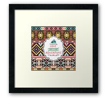 Ethnic colorful pattern with arrows Framed Print