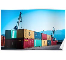 Container terminal Poster