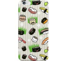 Sushi Characters Pattern iPhone Case/Skin