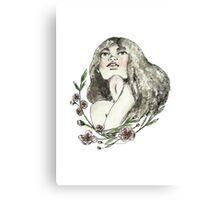 Floral Ink Canvas Print