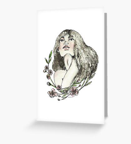 Floral Ink Greeting Card