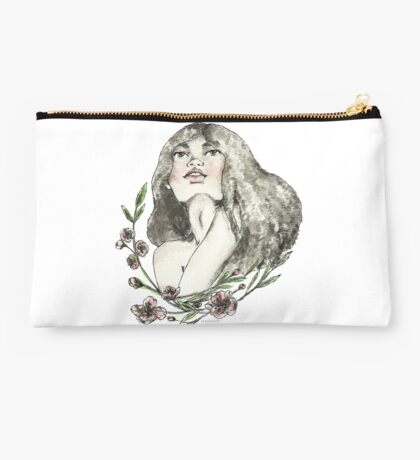Floral Ink Studio Pouch