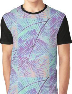 Purple leaf patterns Graphic T-Shirt