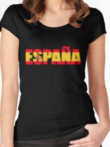 Spain Espana Flag  Women's Fitted Scoop T-Shirt