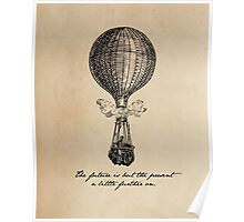 Jules Verne - The Future is but the Present Poster