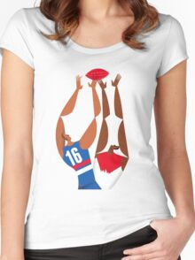 AFL Western Bulldogs Grand Final Poster Poster Women's Fitted Scoop T-Shirt