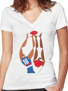 AFL Western Bulldogs Grand Final Poster Poster Women's Fitted V-Neck T-Shirt