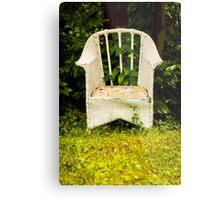 Nature Embracing Chair Metal Print