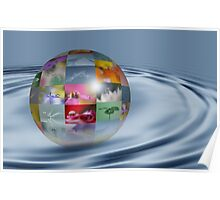 Water drop world Poster