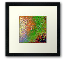 Jesus Christ Chakra Rainbow Framed Print
