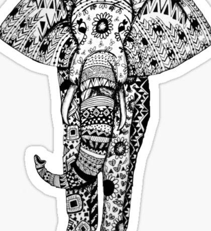 Elephant Tribal Zentangle Sticker