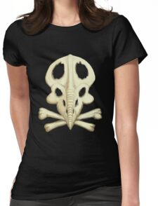 Protoceratops Skull and Crossbones Womens Fitted T-Shirt