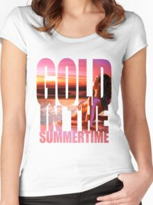 FunnyBONE Gold in the Summertime Women's Fitted Scoop T-Shirt