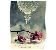 Wine - Lace And Flowers Poster
