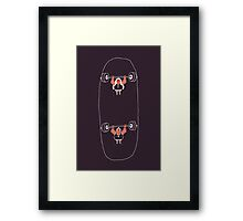 Heavyweight Skateboarding Framed Print