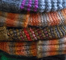 Warm Winter Hats Sticker