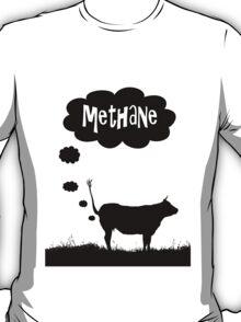 Global warming - cow methane T-Shirt