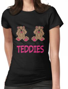 Stop Staring At My Teddies Womens Fitted T-Shirt
