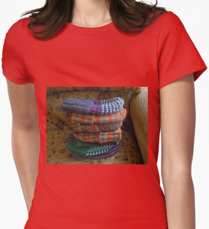 Warm Winter Hats Womens Fitted T-Shirt