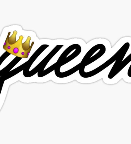 Queen with Crown Sticker