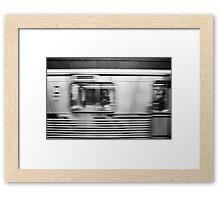 Passing Los Angeles Metro Train Framed Print