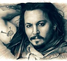 Johnny Depp drawing by Thubakabra