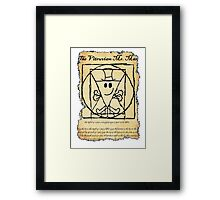 THE VITRUVIAN MR. MAN Framed Print