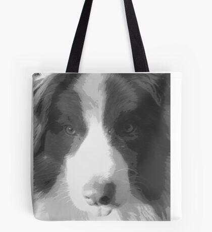 Border Collie Pillow Tote Bag