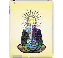 Psychedelic meditating Nature-man iPad Case/Skin