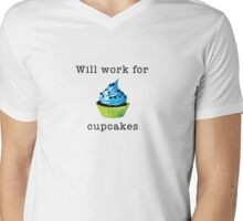 Will Work for Cupcakes Mens V-Neck T-Shirt