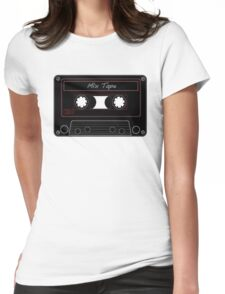 Mix Tape Womens Fitted T-Shirt