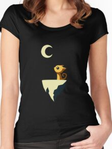 Moon Cat Women's Fitted Scoop T-Shirt