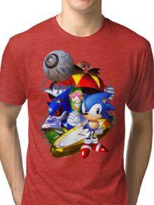 Sonic CD - Sonic the Hedgehog Tri-blend T-Shirt