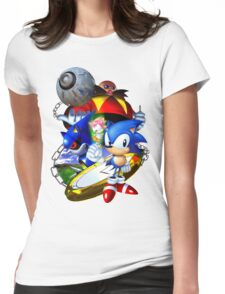 Sonic CD - Sonic the Hedgehog Womens Fitted T-Shirt